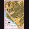 Kort over Højvangen ved Skanderborg med faste poster.